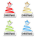 Christmas offer stickers Stock Photo