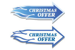 Christmas offer stickers set. Arrow and flame concept. Stock Photos