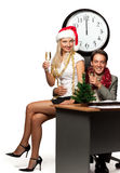 Christmas in the office Royalty Free Stock Image
