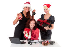 Christmas in the office. Stock Photo