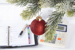 Christmas at the office Stock Images