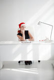 Christmas in the office Royalty Free Stock Photos