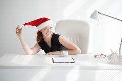Christmas in the office Royalty Free Stock Photo