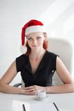 Christmas in the office Royalty Free Stock Images