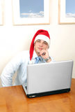 Christmas in office Stock Photo