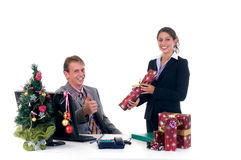 Christmas in office Royalty Free Stock Images