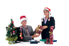 Christmas in office Royalty Free Stock Image