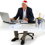 Christmas at the office Stock Photo