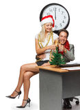 Christmas in the office Stock Images