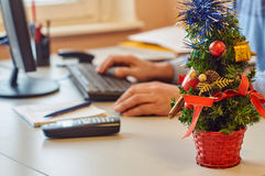 Christmas office decoration Stock Images