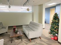 Christmas office decorations Stock Photos