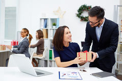 Christmas in office stock photos