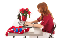 Christmas at the office stock photography