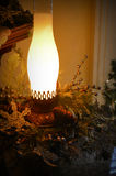 Christmas Oil Lamp stock photos