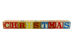 Christmas Old blocks Royalty Free Stock Images