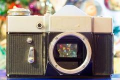 Christmas Old Camera Stock Image