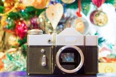 Christmas Old Camera Royalty Free Stock Image