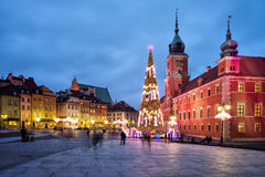 Christmas in Old Town of Warsaw in Poland Royalty Free Stock Photography