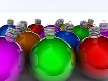 Christmas onament 11. Christmas colorful ornament on green background - rendered in 3d Stock Photos