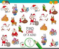 Christmas one of a kind cartoon game Stock Photos