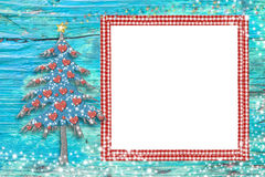 Christmas one photo frame kinder card Stock Photography