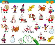 Christmas one picture of a kind cartoon game Stock Photo