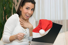 Christmas online shopping Royalty Free Stock Photo