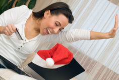 Christmas online shopping Royalty Free Stock Photos