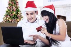 Christmas Online Shopping Royalty Free Stock Photos