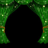Christmas open curtain Royalty Free Stock Images