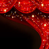 Christmas open curtain Stock Images