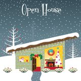 Christmas open house Stock Photo