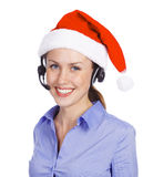 Christmas operator woman Royalty Free Stock Photography