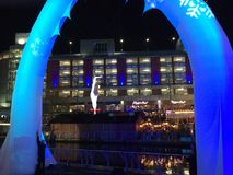 Christmas at the Oracle 2018 in Reading UK, December 1st 2018 royalty free stock photography
