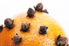 Christmas orange. On the white Royalty Free Stock Images