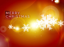 Christmas orange abstract background  Royalty Free Stock Photography