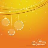 Christmas  orange background Stock Photo