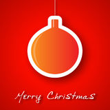 Christmas orange ball applique background.  royalty free illustration