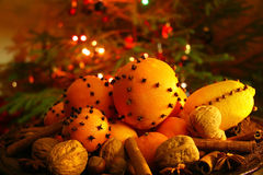 Christmas orange with cloves Royalty Free Stock Photo