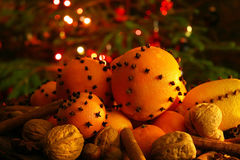 Christmas orange with cloves Royalty Free Stock Photography
