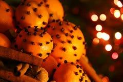 Christmas orange with cloves Stock Image