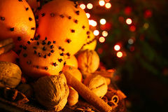 Christmas orange with cloves Royalty Free Stock Image