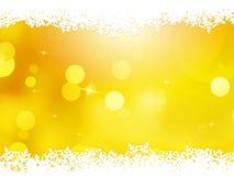 Christmas orange with snow flakes. EPS 10 Royalty Free Stock Image