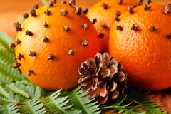 Christmas oranges Stock Photography