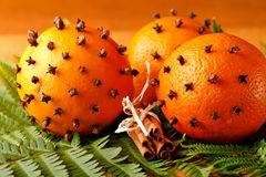 Christmas oranges Royalty Free Stock Photo
