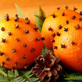 Christmas oranges Royalty Free Stock Photography