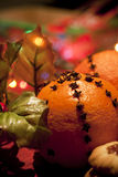 Christmas oranges Royalty Free Stock Image