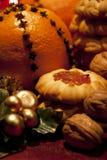 Christmas oranges Stock Photography