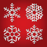 Christmas origami snowflakes Royalty Free Stock Photos