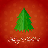 Christmas Origami Tree Royalty Free Stock Image